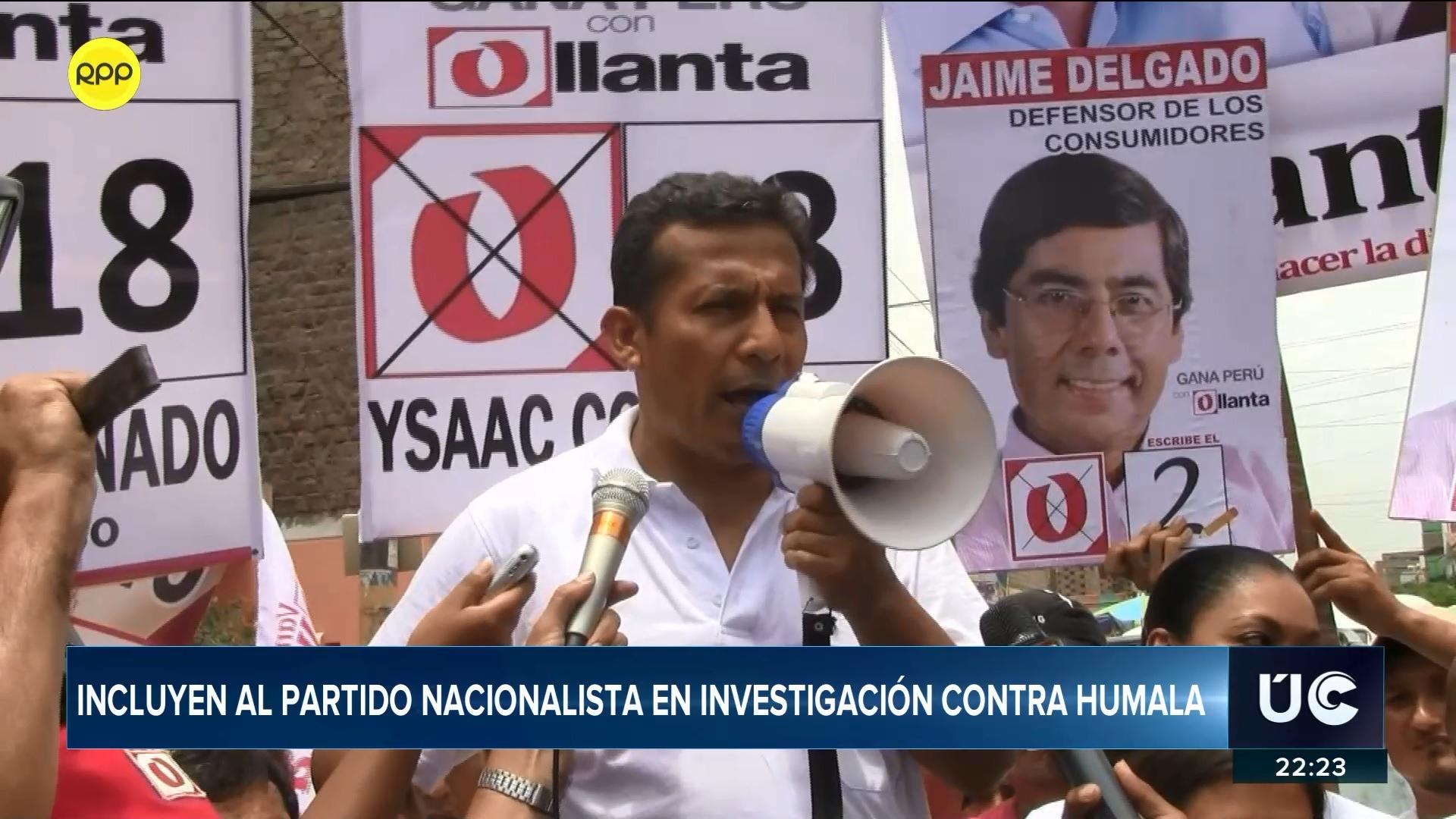 El Partido Nacionalista fue incluido en la investigación que se sigue contra el expresidente Humala por el caso Odebrecht.