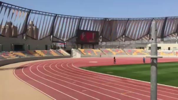 Pista del estadio atlético de la Videna.
