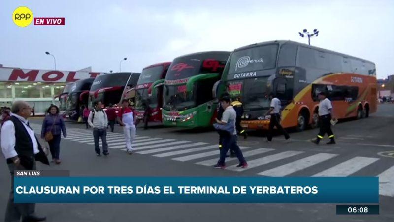Si los administradores del terminal no subsanan las observaciones, el local será cerrado definitivamente.