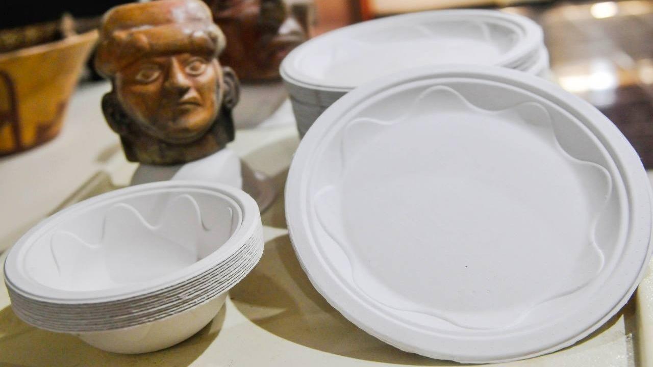 El chef Luis Alberto Yica destacó que el empleo de platos biodegradables reducirá el impacto ambiental en esta feria que espera vender 3 mil 500 platillos.