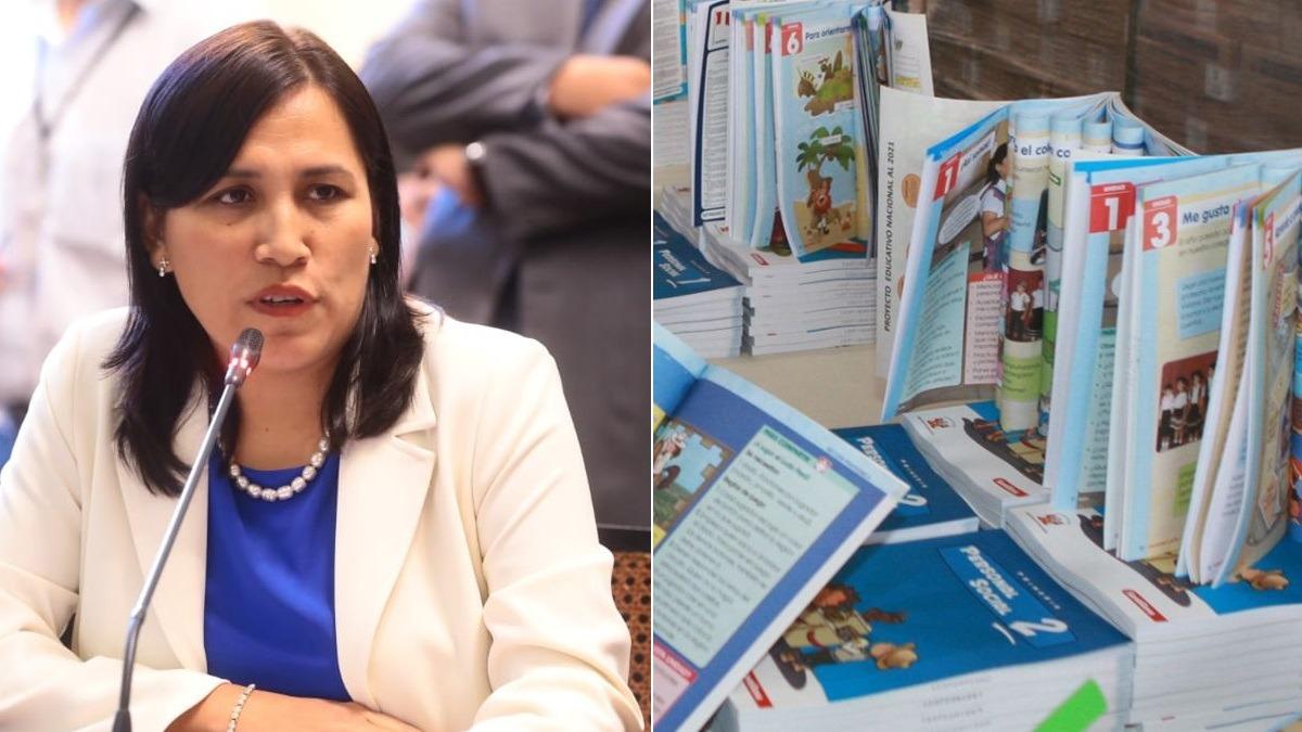 La ministra Flor Pablo Medina se presentó en la Comisión de Educación del Congreso.