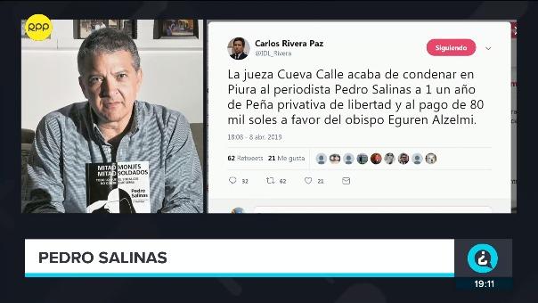 Pedro Salinas conversó con RPP, inmediatamente después de conocer el fallo en su contra.
