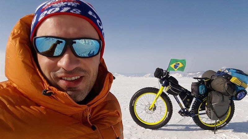 En 2013, Leandro Martins viajó en bicicleta desde Holanda a China en un recorrido de 14.000 kilómetros.