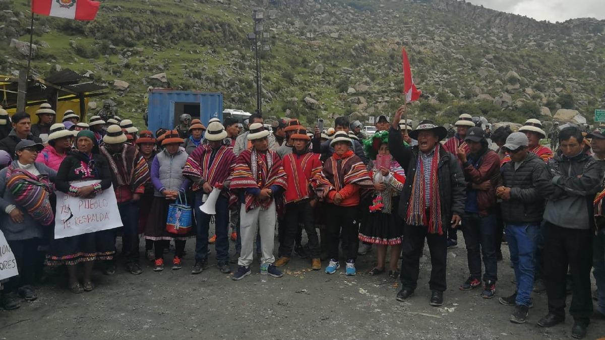 Los manifestantes durante una reunión que se realizó la semana pasada.