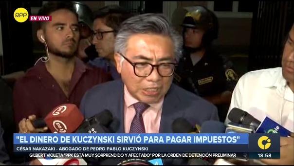 César Nakazaki, abogado de Pedro Pablo Kuczynski.
