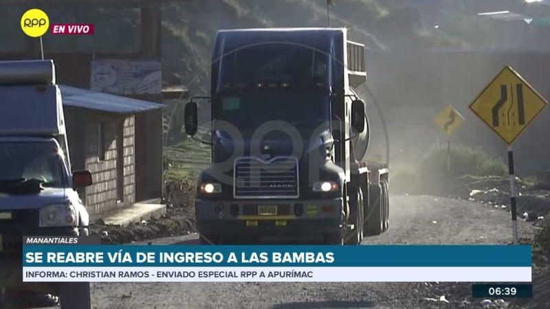 El enviado especial de RPP Noticias confirmó que los camiones cargados de insumos ya ingresan a la mina.