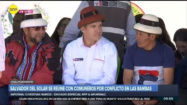 Salvador del Solar llegó acompañado de una comitiva de cuatro ministros.