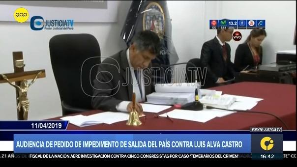 El juez Richard Concepción carhuancho dictó la medida contra el dirigente aprista esta tarde.