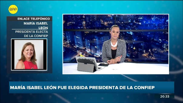 María Isabel león habló en exclusiva para RPP tras conocerse que liderará la confederación de empresarios peruanos.