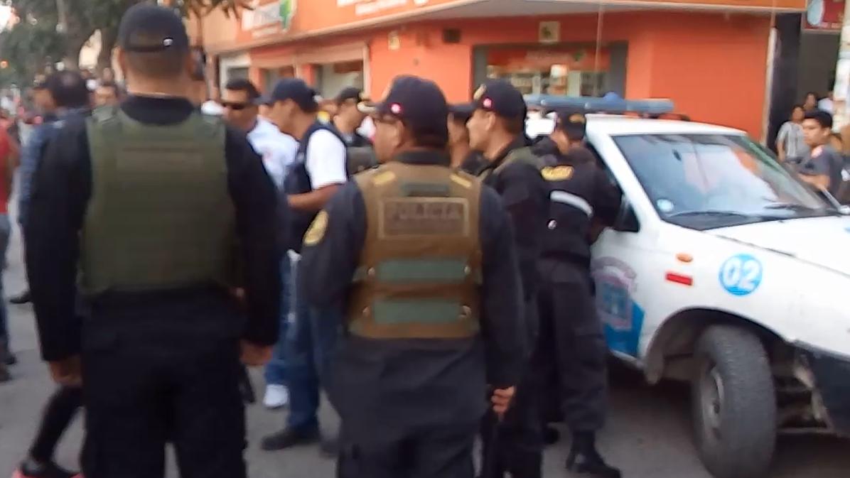 Enfrentamiento con agentes policiales