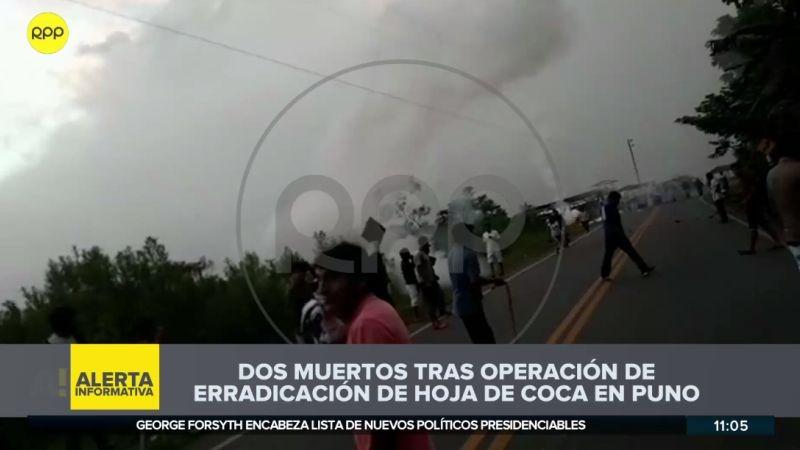 El enfrentamiento se registró en el centro poblado El Carmen, en el distrito de San Gabán.