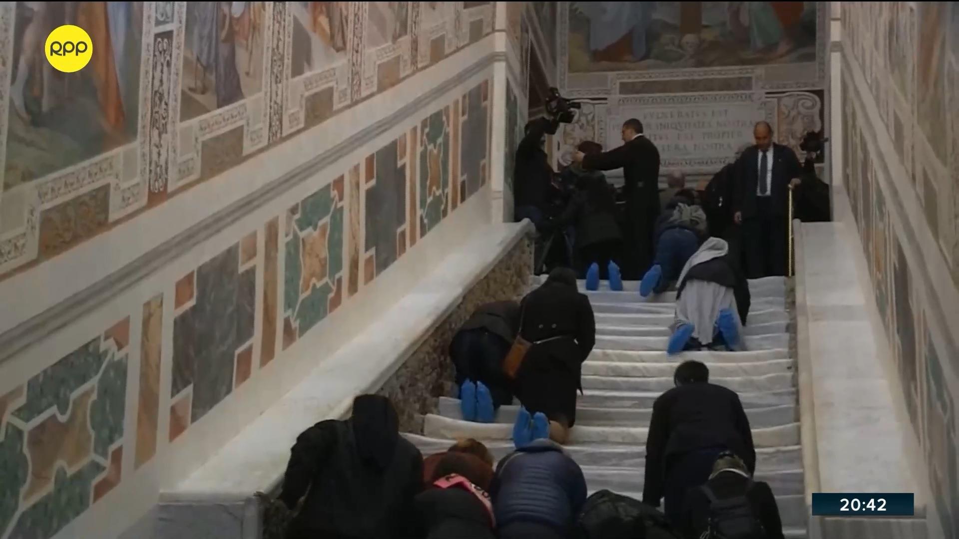 La escalera fue trasladada de Jerusalén al Vaticano.