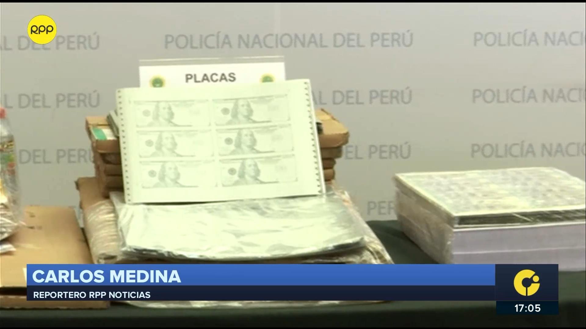 El dinero incautado tenía como destino ser comercializado en Estados Unidos y algunos países vecinos como Argentina, Chile y Ecuador.