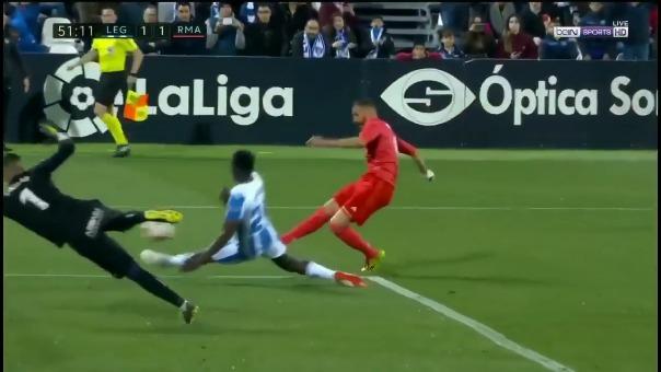 Este fue el gol de Karim Benzema con el Real Madrid contra el Leganés.