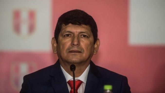 Agustín Lozano presidente de la Federación Peruana de Fútbol (FPF).