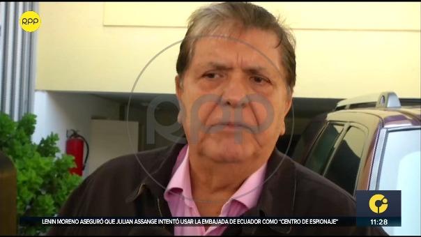 Alan García respondió desde su casa sobre su situación legal.