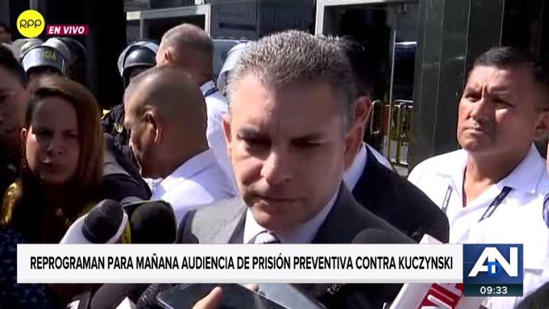 Rafael Vela Barba habló tras la reprogramación de la audiencia en la que se analizará la prisión preventiva a Pedro Pablo Kuczynski.