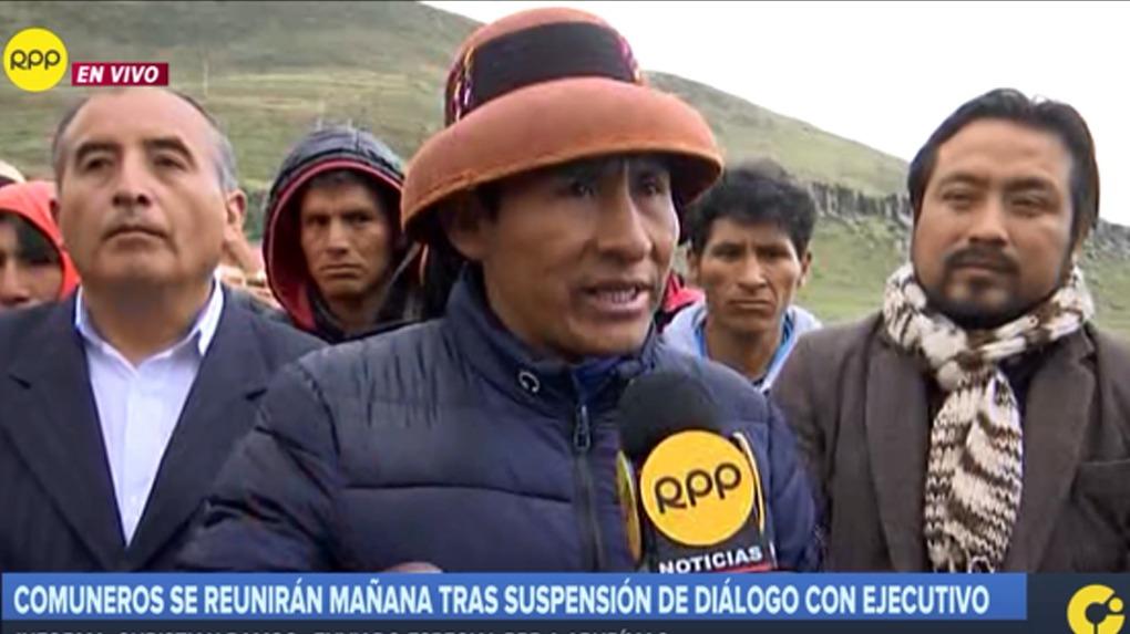 Gregorio Rojas declara a RPP desde el distrito de Challhuahuacho.