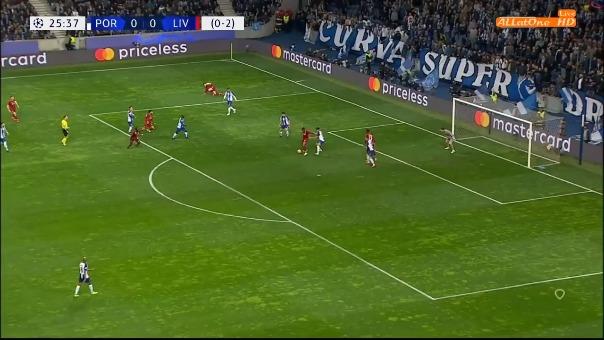 Liverpool versus Porto en la Champions League.