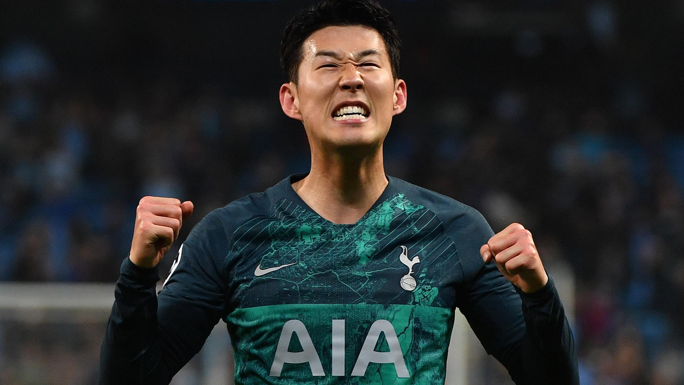 El coreano Son del Tottenham anotó dos goles ante  Manchester City