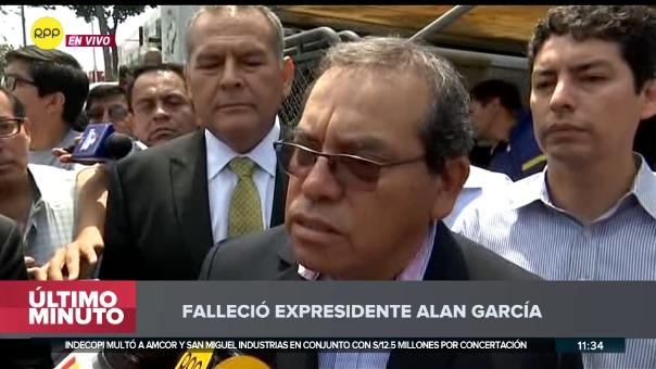 Ricardo Pinedo, secretario del expresidente, declaró sobre su velorio.