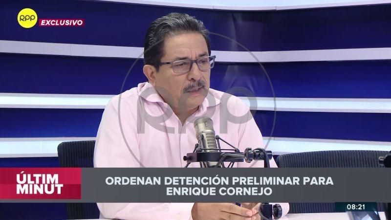 Enrique Cornejo anunció en Ampliación de Noticias que se entregará a la justicia.