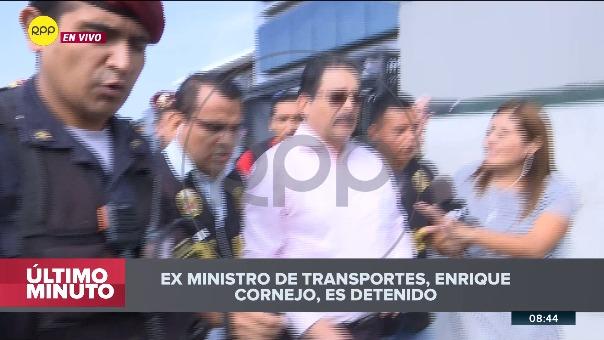 El exministro fue detenido a su salida de una entrevista en RPP Noticias.
