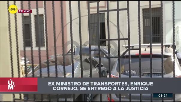 Enrique Cornejo fue detenido tras dar una entrevista.