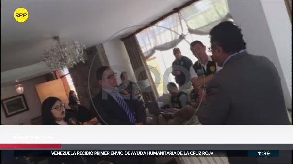 El abogado llegó a la casa del expresidente Alan García.