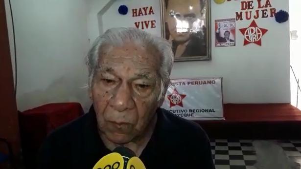 Guelly Villanueva, reconocido militante aprista