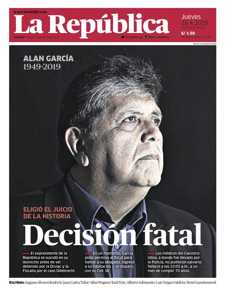 LA REPUBLICA: DECISIÓN FATAL. Eligió el juicio de la historia