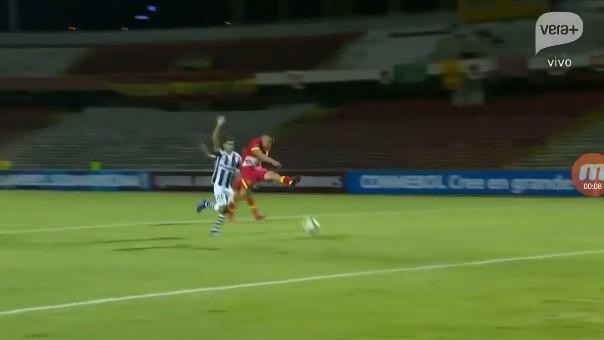 Este fue el gol que anotó Ricardo Salcedo frente a Montevideo Wanderers.