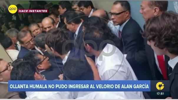 Así fue la accidentada llega de Ollanta Humala a la Casa del Pueblo.