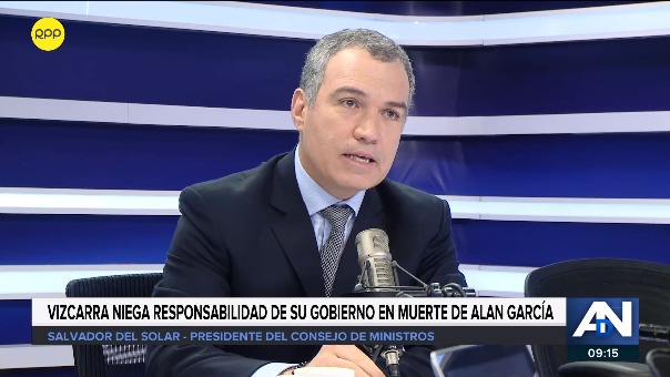 El presidente del Consejo de Ministros, Salvador del Solar, en RPP Noticias.