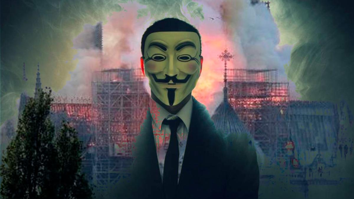 Anonymous critica duramente a los multimillonarios que donaron a Notre Dame.