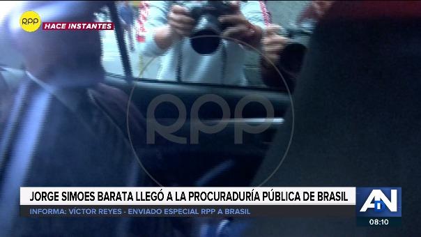Jorge Barata llegó a la sede de la Procuraduría Pública.