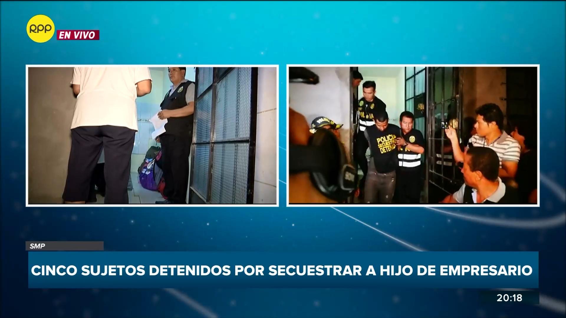 La Policía detuvo a 5 extranjeros en una vivienda de San Martín de Porres donde tenían a la víctima.