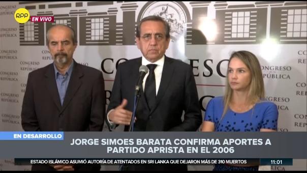 """""""Era absolutamente cierto cuando Alan García decía que no se vendía. Alan García es inocente"""", dijo Jorge del Castillo."""