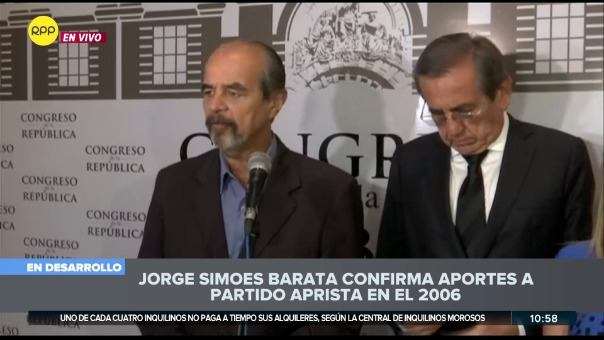 """""""Podemos decir de manera categórica que el señor Barata ha afirmado que nunca Alan García le solicitó dinero alguno"""