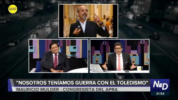 Juan Pari y Mauricio Mulder discuten durante entrevista.