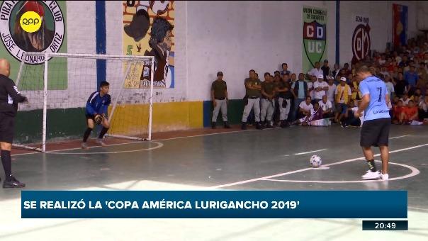 'Copa América Lurigancho 2019' se llevó a cabo este jueves en el penal.