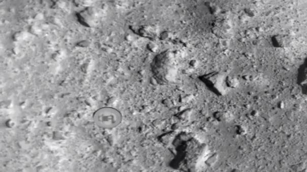 El momento en que la bomba cae desde la sonda Hayabusa 2.