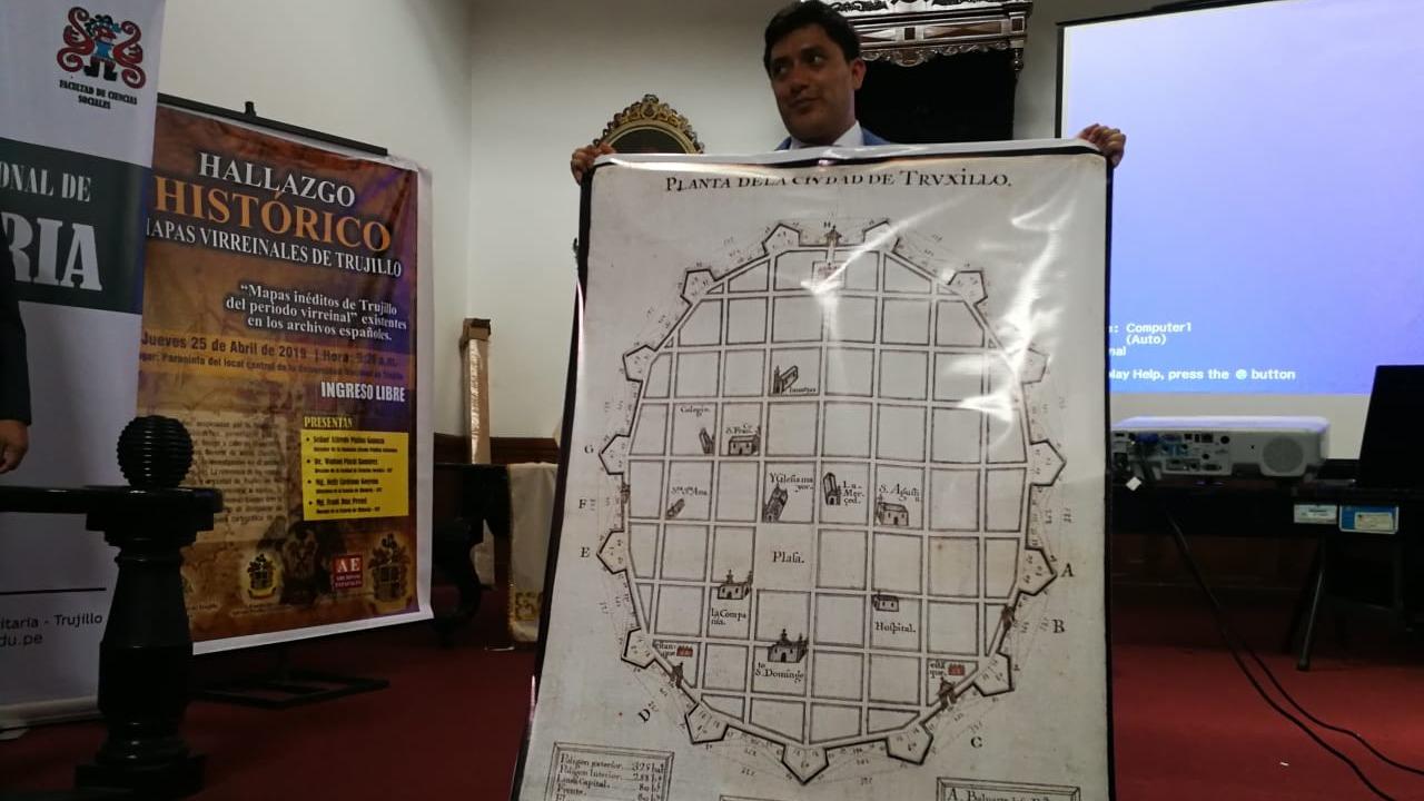 Los mapas muestran a Trujillo cuando aún el territorio tenía la forma ovalada, afirma el historiador Frank