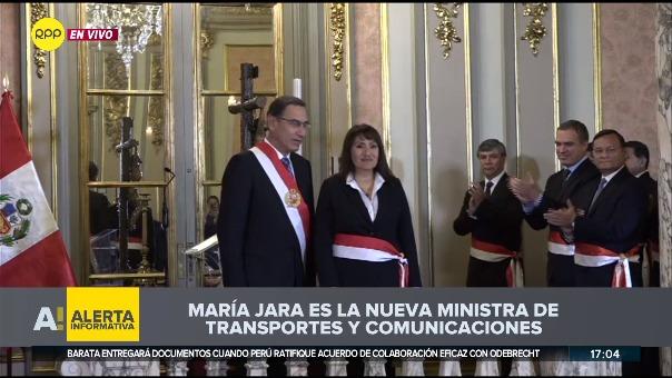 María Jara Risco ocupó en el 2017 el cargo de directora de la Dirección General de Transporte Terrestre del MTC.