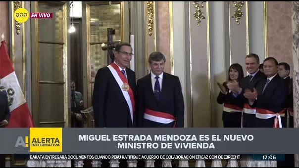 Miguel Estrada Mendoza juró como ministro de Vivienda en reemplazo de Carlos Bruce