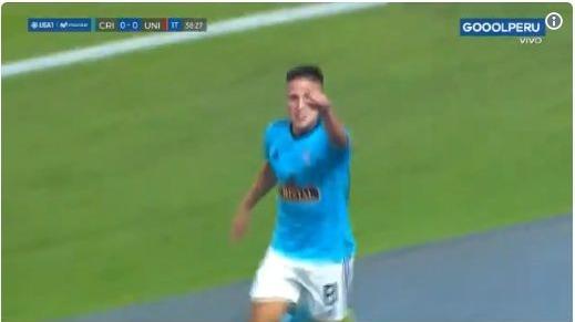 Cristian Ortiz se mandó una joyita en el Estadio Nacional.