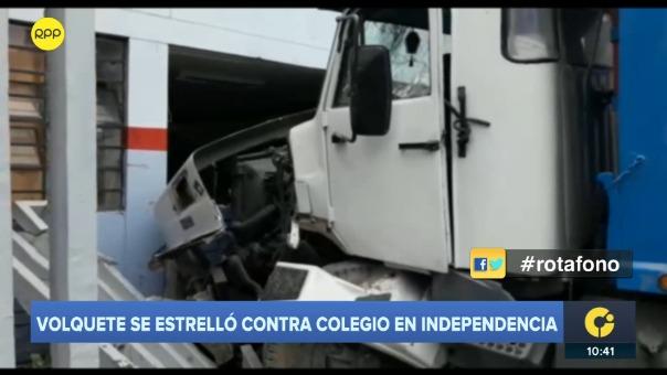 Accidente en colegio de Independencia.