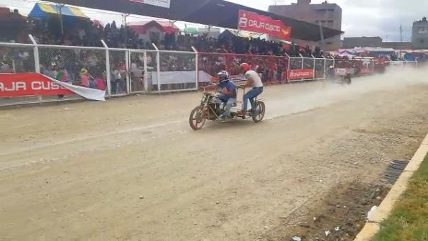 Así se desarrolló la competencia de mototaxis en Huancayo.