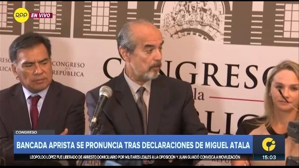 Bancada aprista se pronuncia tras declaraciones de Miguel Atala.