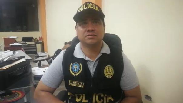 Luis Revilla Placencia, jefe de la División de Investigaciones de Alta Complejidad en Trujillo.